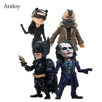 TOYS ROCKA The Dark Night Rises Batman Bane Joker Catwoman PVC Action Figure Collectible Model Toy