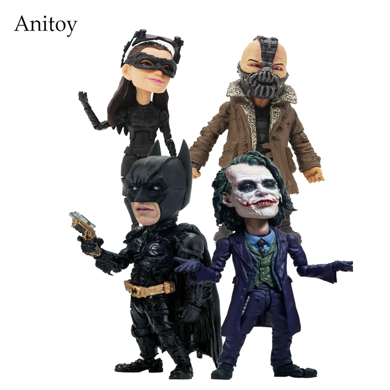TOYS ROCKA! The Dark Night Rises Batman Bane Joker Catwoman PVC Action Figure Collectible Model Toy 4 Styles KT4113 batman new 52th ver action figure 1 8 scale painted figure black knight pvc action figure collectible model toy 18cmkt3356