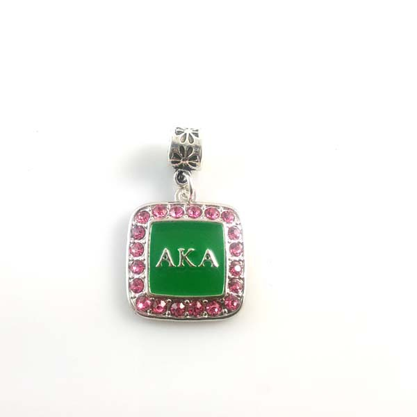 Sorority Greek Aka Enamel Charm With Ring Square Crystal 5pcs 1lot In Charms From Jewelry Accessories On Aliexpress Alibaba Group