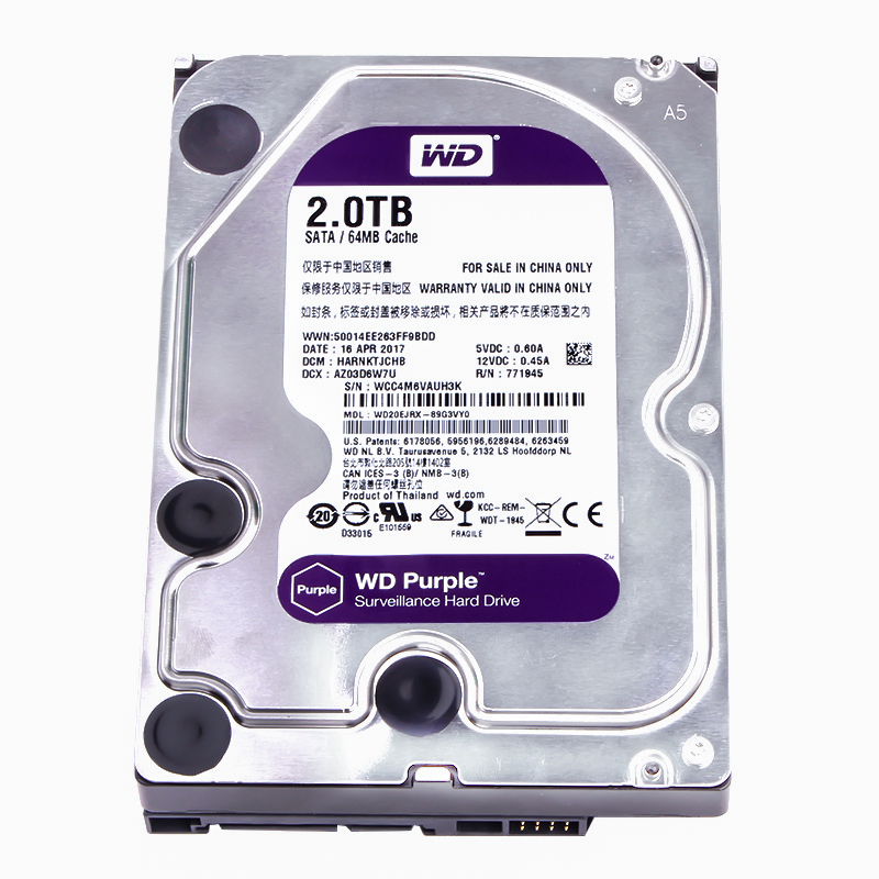 Western Digital WD Purple vigilancia HDD 1TB 2TB 3TB 4TB SATA 6,0 Gb/s duro de 3,5
