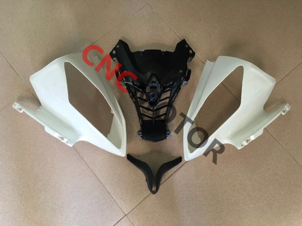Unpainted Front Upper cowl nose and left and riight Fairing Bodywork for YAMAHA YZF R6 R600 2008-2013 08-09-10-11-12-13Unpainted Front Upper cowl nose and left and riight Fairing Bodywork for YAMAHA YZF R6 R600 2008-2013 08-09-10-11-12-13