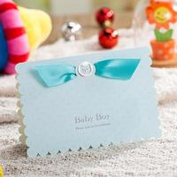 20pcs/pack New Lovely Pink and Sky Blue Christening Birthday Party Invitation Card Baby Boy Baby Girl Invitations for Birthday