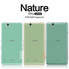Voor Sony C4 Case Nillkin Ultra Dunne Transparante Tpu Telefoon Cases Cover Voor Sony Xperia C4 Dual E5333 Capa beschermhoes(China)