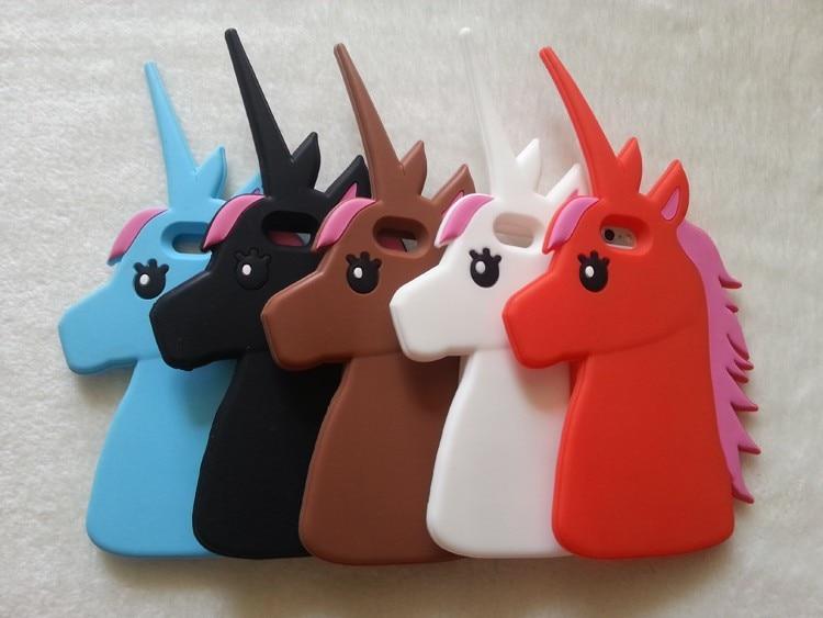 """HTB1.NtZKXXXXXXNXXXXq6xXFXXXB - Fashion 3D Cute Cartoon Unicorn Soft Silicon Rubber Case Cover For iPhone 4 4s 5 5s SE 6 7 6s plus 7 plus 4.7/5.5"""" White Horse"""