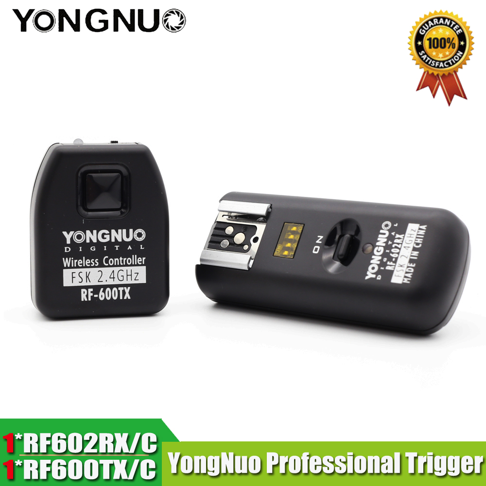 YONGNUO RF 602 RF 602C RF 602 C Wireless Remote Flash Trigger for CANON 1D 5D