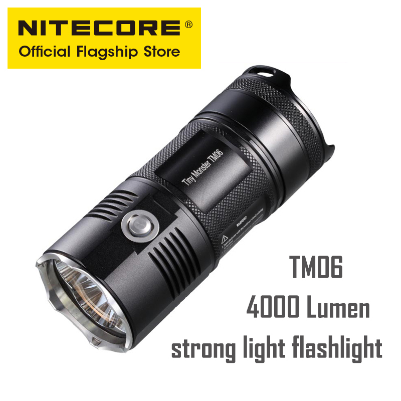 NITECORE TM06 Strong Light Long range Outdoor Rechargeable Waterproof Highlight Lithium Battery Flashlight