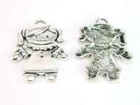 Gril pendentif fille collier pendentif Antique argent bijoux composants D-3-47