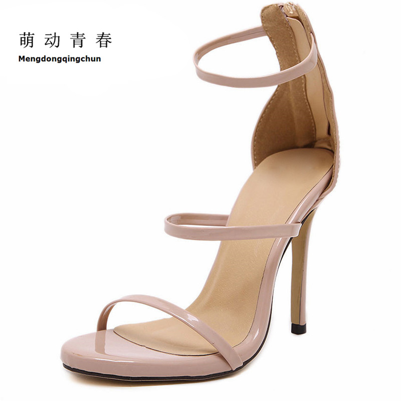 Size 35-43 Women Pumps High Heels Ladies Sexy Lace Up Gladiator Sandals Thin Heeled Gladiator Shoes Zapatos Mujer Shoes Woman cdts 35 45 46 summer zapatos mujer peep toe sandals 15cm thin high heels flowers crystal platform sexy woman shoes wedding pumps