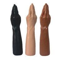 Bambola Del Sesso di alta qualità 1:1 reale 7x36 cm Mano Magica e Dildo avambraccio Per Vaginale e Anal Fisting mano Libera Super-ventosa sesso giocattolo