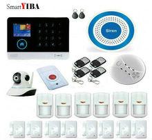 SmartYIBA Russian English Spanish Dutch Voice WiFi 3G Intruder Alarm System Android IOS App Smart Home