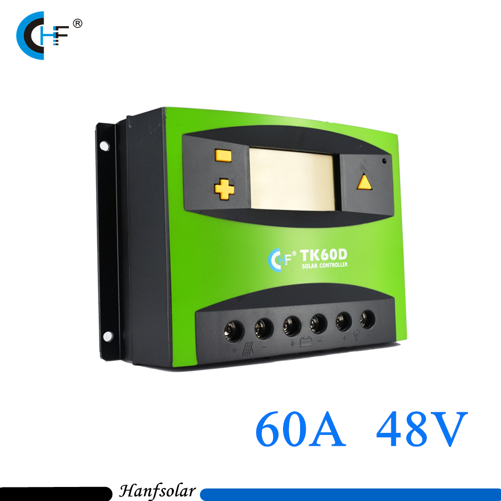 60A 48V PWM Solar Charge Controller/ Regulator with LCD Display for Solar Generator System lcd display cm6048 60a 48v pwm solar charge controller solar regulator