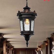 Европейский уличный фонарь, уличная Водонепроницаемая люстра, садовая Вилла балкон, свет для двора, коридора, террасы, прохода