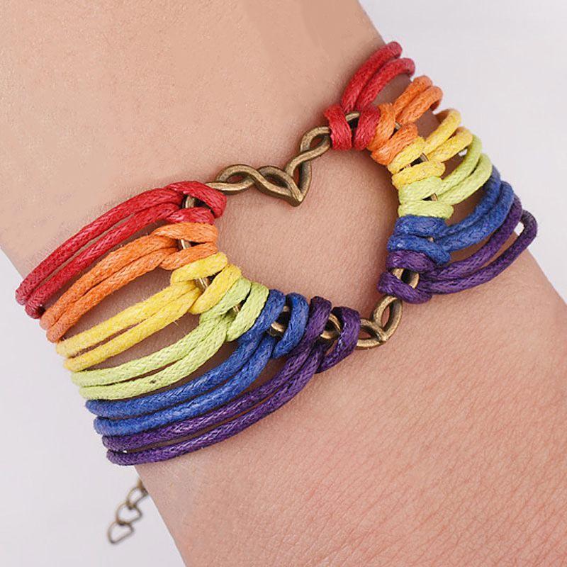 Gay Rainbow Pulse Necklace Gay Pride Necklace LGBT Pride Necklace by Living Gay Lesbian Necklace