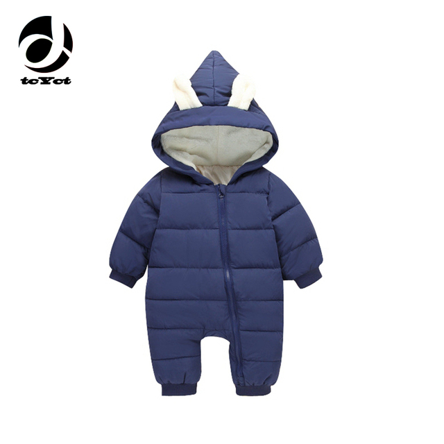 002f9e9d136 tcYct Baby Rompers Winter Jackets for Baby Girls Clothing Spring Autumn  Coats Rabbit Ear Style For Baby Boys Newborn Clothes