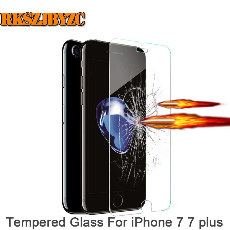 For iPhone 7 7 plus 2.5d 0.20 mm Ultra Thin HD Clear 9H Explosion-proof Tempered Glass Screen Protector Cover Guard Film case