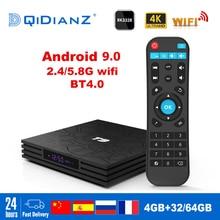 T9 akıllı TV kutusu Android 9.0 OS 4GB + 32GB/64GB RK3318 dört çekirdekli WIFI 2,4G 1080P 4K YouTube Netflix medya oyun seti top box