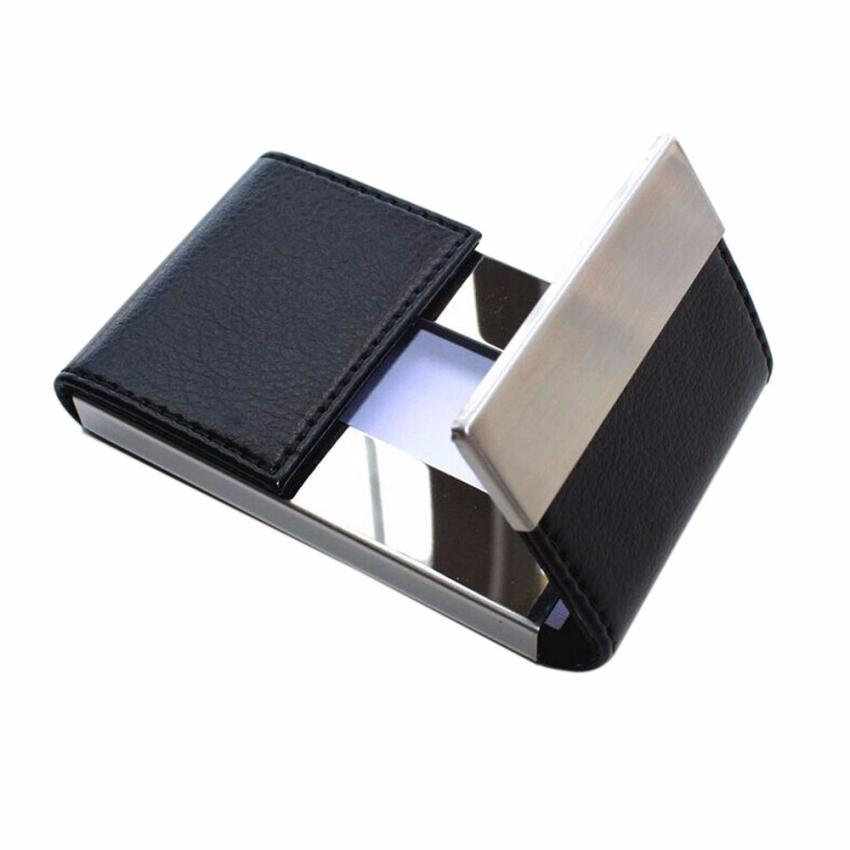 Wallet Men Women Traveling Metal Wallet Credit Card Package Card Holder Double Open Business Card Case Porte Carte 2017 new top brand pu thin business id credit card holder wallets pocket case bank credit card package case card box porte carte