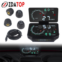Car-Head-Display-Tire Car-Tire-Pressure-Alarm TPMS HUD