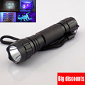 led uv flashlight WF-501B Waterproof High Power 395nm Ultraviolet Lamp Purple light Torch