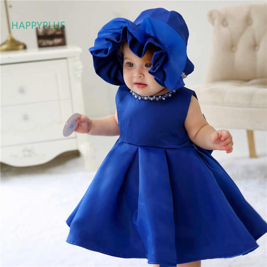 HAPPYPLUS, vestido de niña para boda, 3, 6, 12, 18, 24 meses, cuentas, traje de primera cumpleaños para niños, niñas, vestidos de fiesta para bautismo