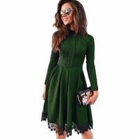 Phụ nữ bán buôn Casual dài tay áo Slim Đảng đầm o-cổ Club Maxi Dresses