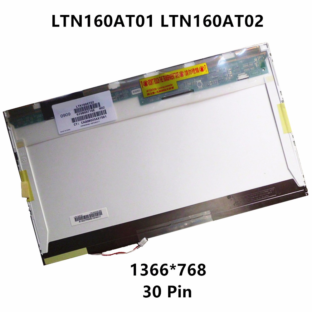 цены New 16'' Laptop CCFL LCD Screen Display Matrix Panel LTN160AT01 LTN160AT02 For Acer Aspire 6920 6920G 6530 6930 6930G 6935 6935G