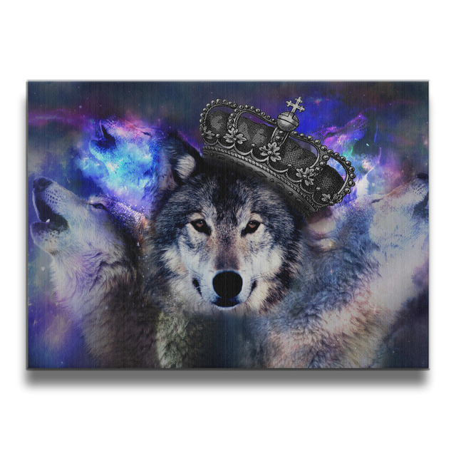 cool wolf frameless art photos wall frames wood prints 1620 inches - Wolf Picture Frames