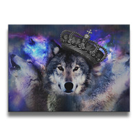 Cool Wolf Frameless Art Photos Wall Frames Wood Prints 16*20 Inches