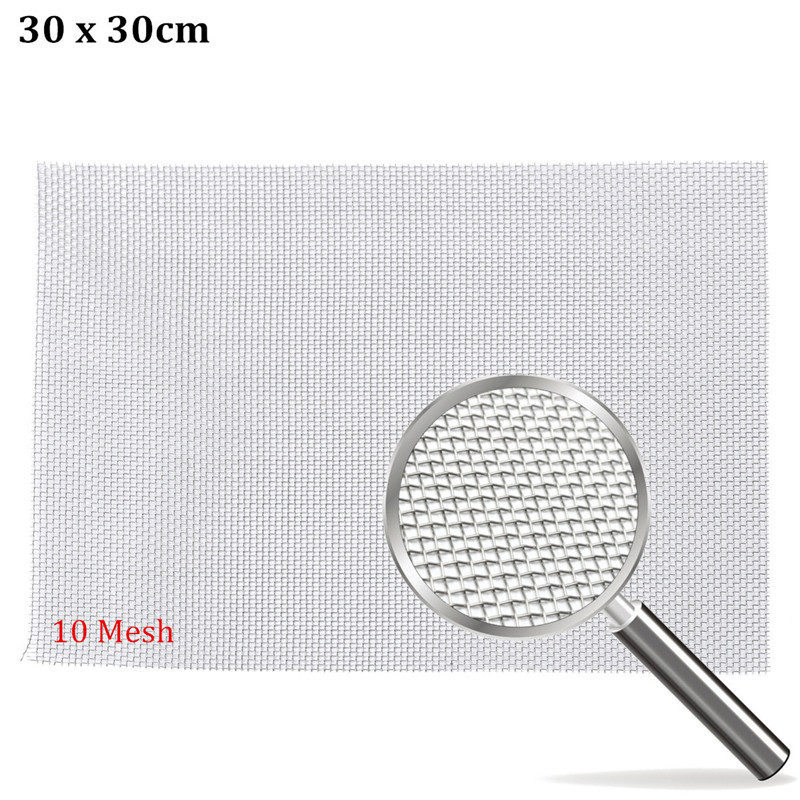 304 Stainless Steel Woven 10 Mesh Wire 30cm Square Filtration Grill ...