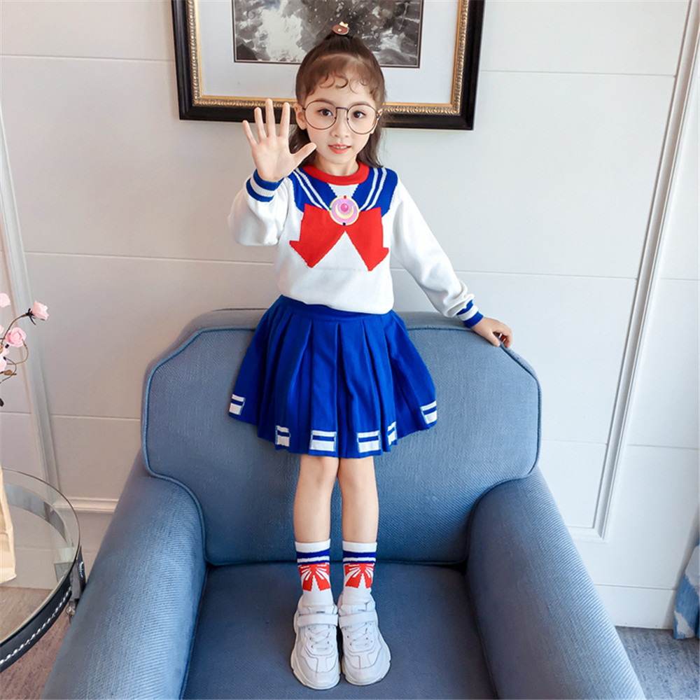 Cute Anime Kid Baby Girls Sailor Moon Cosplay Costumes ...