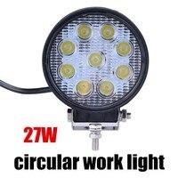 Cena fabryczna 1 sztuka Samochodów 12 V LED Światła robocze Lżejsze Auto Naprawa Samochodów Work Light lampa offroad 27 W okrągły