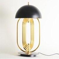 62 см высота поворотный овальной формы металлический настольная лампа/Золотой Bronzing огни