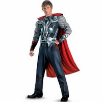 New Arrival Adult Cool Cosplay Avengers Movie Thor Avengers Classic Muscle Adult Costume Halloween Party