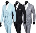 ( Jacket Pants Vest) Male Slim Business Professional Dress One Button Men Wedding Tuxedo Spot Single Breasted Suits