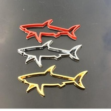 3D car stickers personalized shark metal logo styling start emblem badge chrome decoration decal