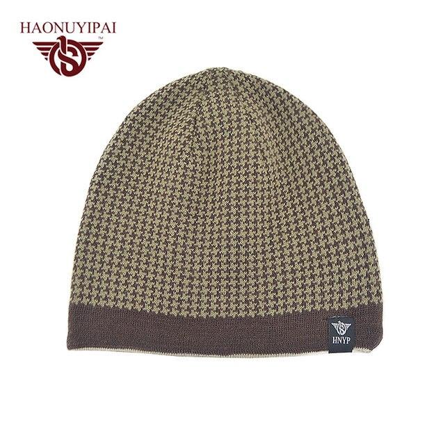 Wholesale Men s Knit Winter Warm Caps Double Layers Hat Skullies Beanies  Hats For Men Outdoor Ski Sports Bone Cap 5 colors PA050 a46c6cd947c