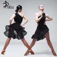 Sexy Black Sleeveless Performance Clothes for Salsa Tango Ballroom Competition Dance Dress Professional Latin Dance Dresses