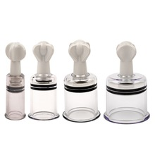 4Pcs/lot Breast Twist Pump Suction Rotary Cupping Cups Nippl
