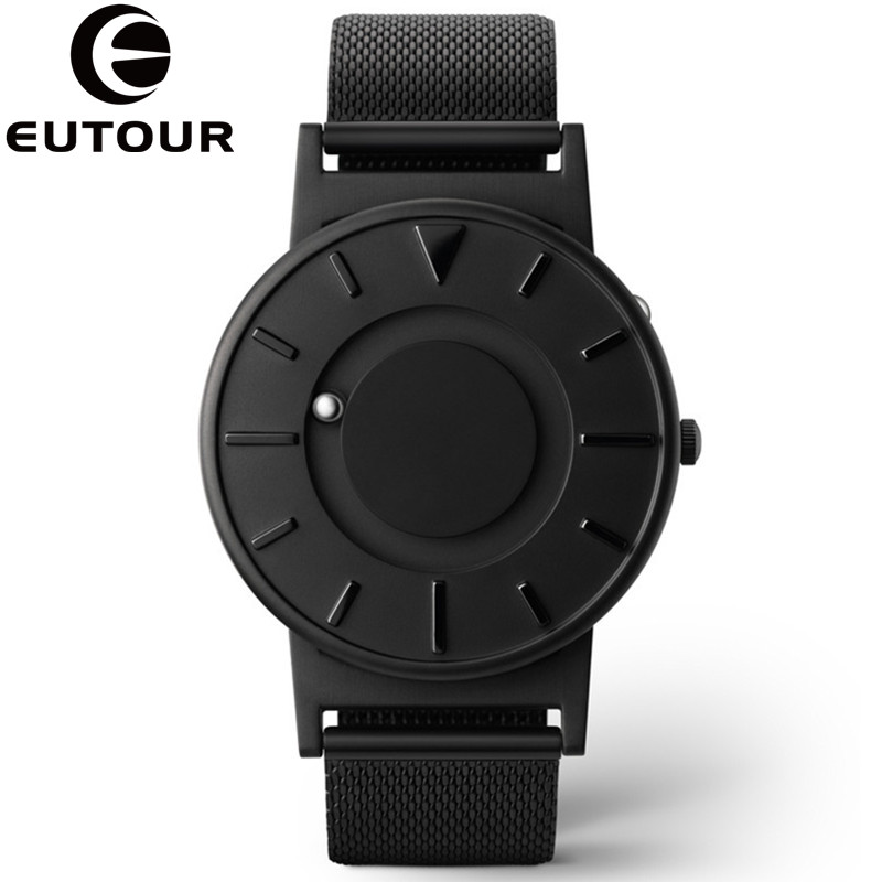 Eutour Watch Men Luxury Top Brand Concise Innovate Wristwatches Fashion Casual Sport Magnetic Stainless Steel Quartz-watch reloj onlyou brand luxury fashion watches women men quartz watch high quality stainless steel wristwatches ladies dress watch 8892