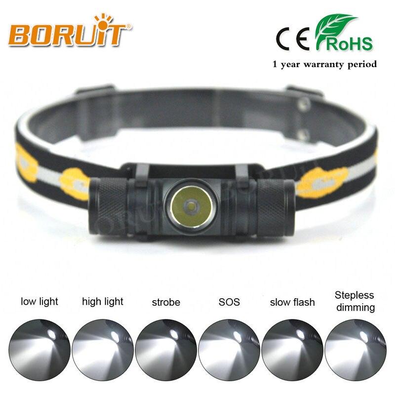 BORUIT Brand 1000LM 3W L2 LED Headlight Mini White Light Head Lamp Flashlight Outdoor Sport Headlamp For Camping Fishing Hunting