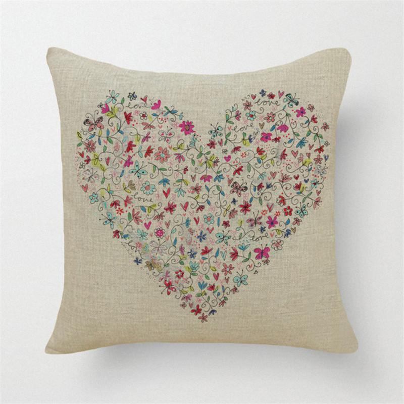 nouvelle 2016 de mode color fleurs arbres amour pas cher housses de coussin dcoratif canap taie - Coussin Color Pas Cher