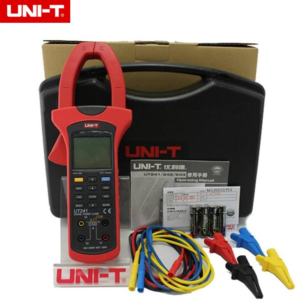 UNI-T UT241 1000A Digital Clamp Power Meter True RMS Power and Harmonics Clamp Meter victor 6050 digital clamp meter