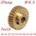 2PCS/LOT 0.5M 30 31 32 33 34 35 36 37 38 39 Teeth Brass Step Spur Gear CNC lathe machining parts