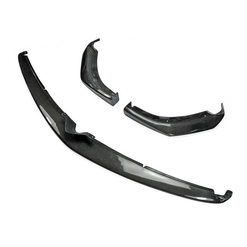 Accessoires de voiture Pour Mazda RX8 Tard 09-12 R3 Fiber De Carbone TK Style Front Lip 3 pcs Brillant Fibre pare-chocs Splitter Sous Spoiler Garniture