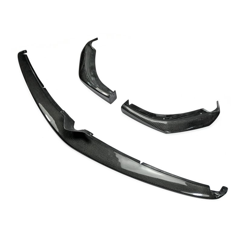 Accessori auto Per Mazda RX8 In Ritardo 09-12 R3 In Fibra di Carbonio TK Stile Anteriore Lip 3 pz Lucido In Fibra di splitter paraurti Sotto Spoiler Trim