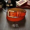 De boa qualidade mulheres clássico fivela de cinto de couro genuíno para homens de cintura frete grátis 6035