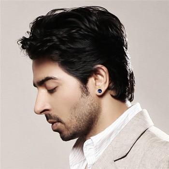 BONISKISS Men Earrings Stainless Steel Black Blue Barbell Type Stud Earrings For Men And Women Unisex.jpg 350x350 - Earrings For Men