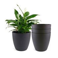 13,75 Пластик самополивающиеся горшочки Индикатор уровня воды Черный современные декоративные кашпо горшок для всех комнатных растений наб