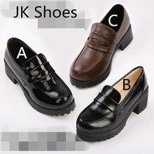 JK Japanese School Shoes Student Uniform Suits Shoes Girl Lolita shoes Cosplay Shoes цены онлайн