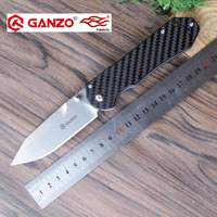 58 60HRC Ganzo G7452 440C G10 Or Carbon Fiber Handle Folding Knife Survival Camping Tool Pocket